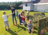 Stovyklavo Traksėdžių progimnazijos mokiniai