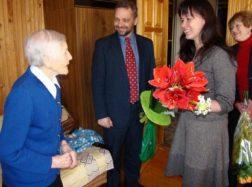 Savivaldybės atstovai sveikino šimtametę