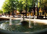 Tilžės gatvės parkelio fontanas atgimė