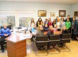 Savivaldybėje apsilankė usėniškių mokinių delegacija