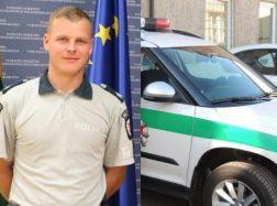 Autoįvykį, per kurį žuvo pareigūnas, sukėlęs kurjeris pripažintas kaltu