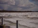Atmatoje susidariusi ledų sangrūda. Nuotrauka Dovilės Baužaitės