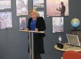 Pamario viešosios bibliotekos išskirtinumą ir svarbą krašto kultūrinio gyvenimo kontekste pristatė bibliotekos Informacijos skyriaus vedėja Laima Dumšienė.