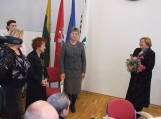 R.Dobranskienei įteiktos Šilutės miesto garbės piliečio regalijos