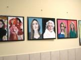 Abiturientės Lauros Razmaitės dailės darbų paroda