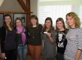 """Turnyro """"Europrotai"""" lyderiais tapo Šilutės Vydūno gimnazijos gimnazisčių komanda """"Draugelės"""". Nuotraukos F. Bajoraičio viešosios bibliotekos"""