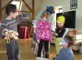 Renginio dalyviai buvo įtraukti į teatralizuotus vaidmenis