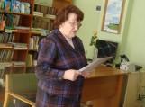 Filomena Kitova skaito savo eiles. Nuotraukos Elenos Dragūnienės