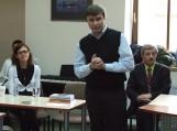 (iš kairės) Monika Kokštaitė, Aurimas Perednis ir Stasys Bielskis