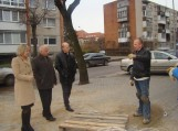 Apžiūrėjo Taikos gatvės šaligatvių tvarkymo darbus