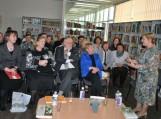 Renginio svečius sveikina Pagėgių savivaldybės viešosios bibliotekos direktorė Elena Stankevičienė