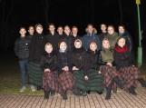 Rusnės pagrindinės mokyklos mokiniai vadovaujami  Solveigos Mockienės dovanojo meninę programą. Nuotraukos Edvardo Lukošiaus