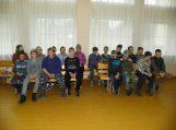 Žemaičių Naumiesčio gimnazijos penktokai su klasės vadove Jurgita Vingiene