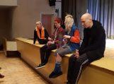 """""""Įsilaužėlio"""" kūrybine grupė. Iš dešinės – Mindaugas  Ancevičius, Kamilė Rutkaitė, Aurimas Bačinskas ir Agnė Sunklodaitė. Nuotraukos Šilutės kultūros ir pramogų centro"""